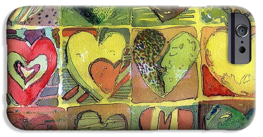 Valentine IPhone 6 Case featuring the painting A Sunny Valentine by Mindy Newman