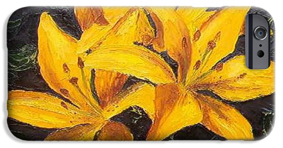 IPhone 6 Case featuring the painting A Touch Of Gold by Tami Booher