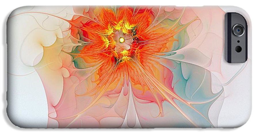 Digital Art IPhone 6 Case featuring the digital art A Touch Of Spring by Amanda Moore