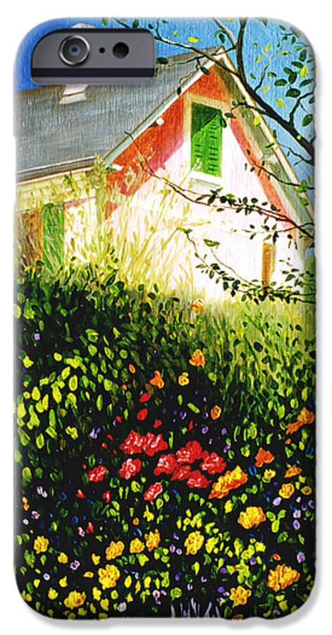 Monets House IPhone 6 Case featuring the painting A View Of Monets House In Giverny France by Gary Hernandez