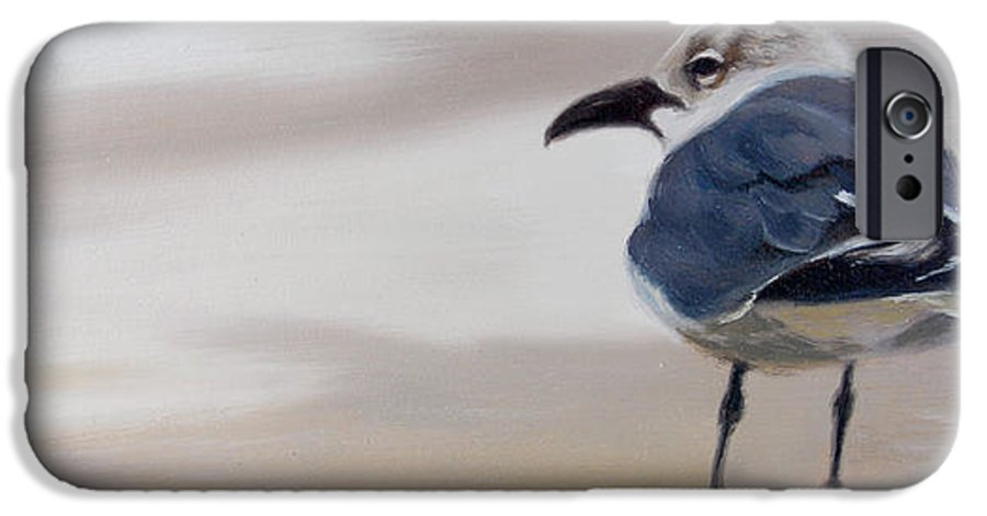 Painting IPhone 6 Case featuring the painting A Walk On The Beach by Greg Neal