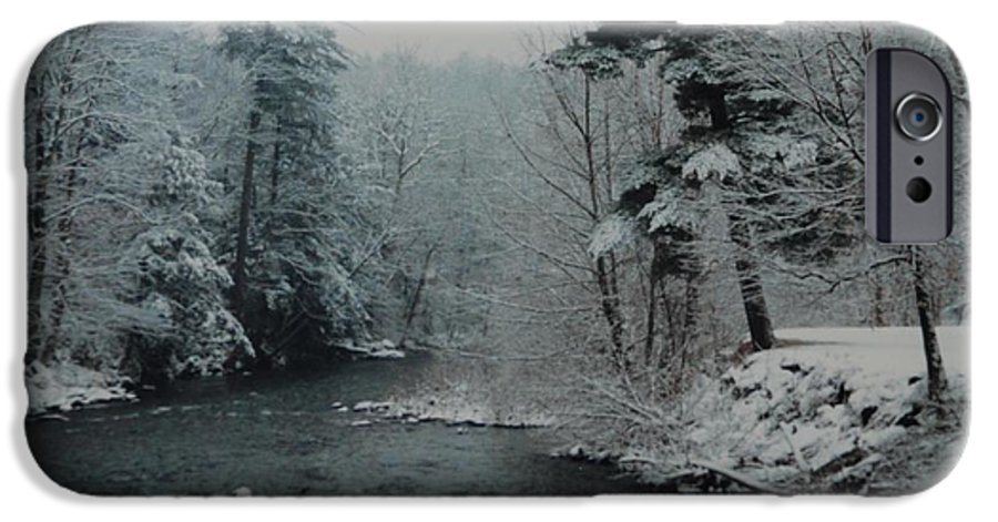 B&w IPhone 6 Case featuring the photograph A Winter Waterland by Rob Hans