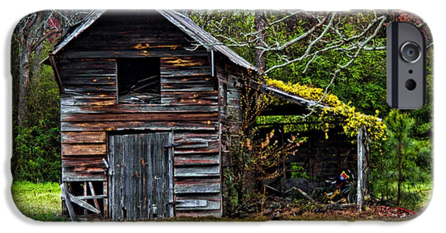 Barn IPhone 6 Case featuring the photograph A Yellow Cover by Christopher Holmes