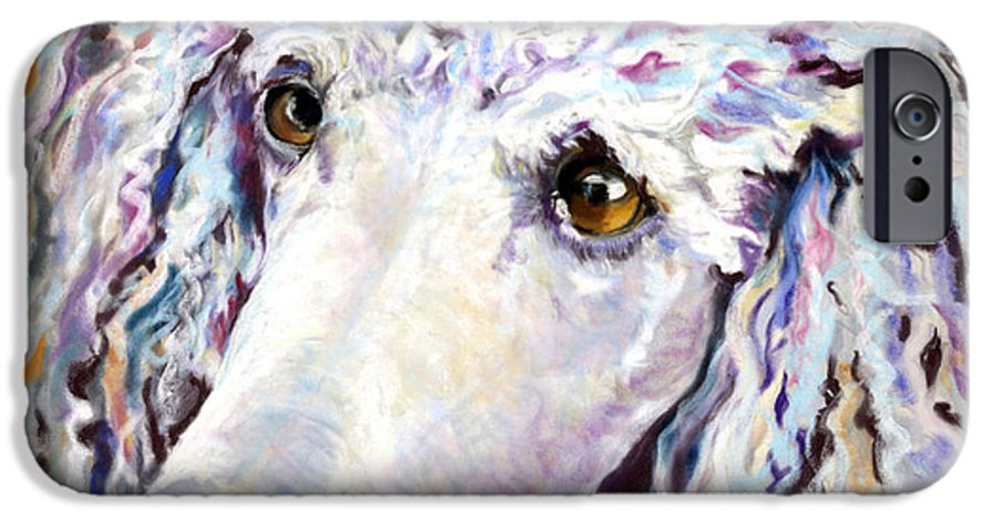 Standard Poodle IPhone 6 Case featuring the pastel Above The Standard  by Pat Saunders-White
