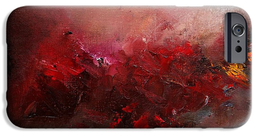 Abstract IPhone 6 Case featuring the painting Abstract 056 by Pol Ledent