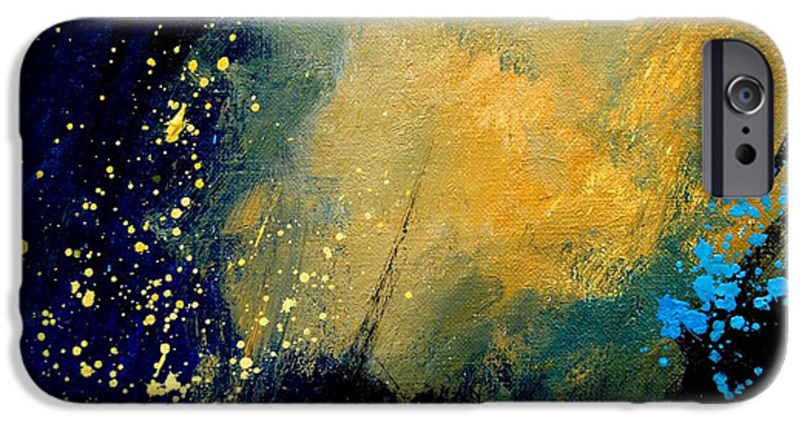 Abstract IPhone 6 Case featuring the painting Abstract 061 by Pol Ledent