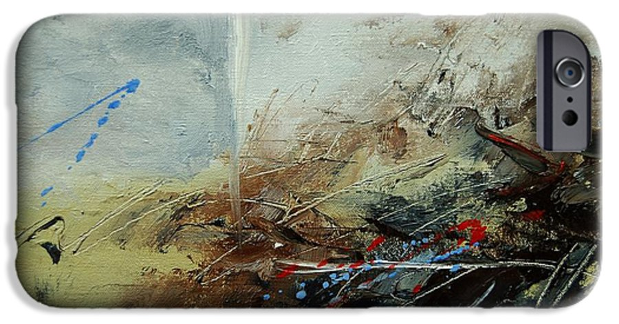 Abstract IPhone 6 Case featuring the print Abstract 070408 by Pol Ledent