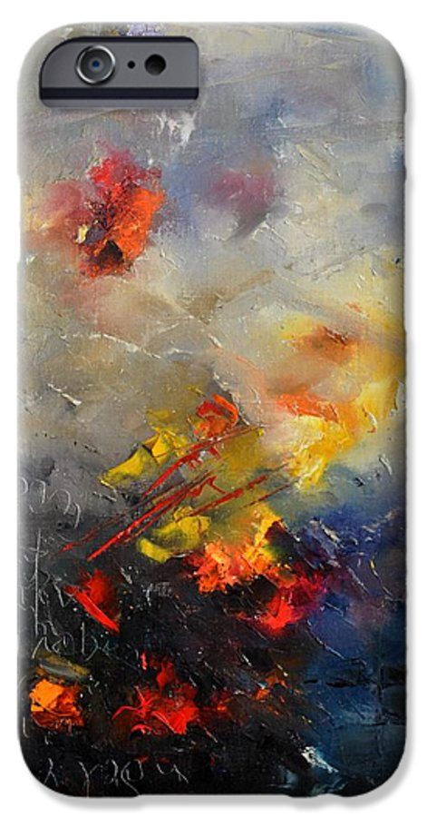 Abstract IPhone 6 Case featuring the painting Abstract 0805 by Pol Ledent