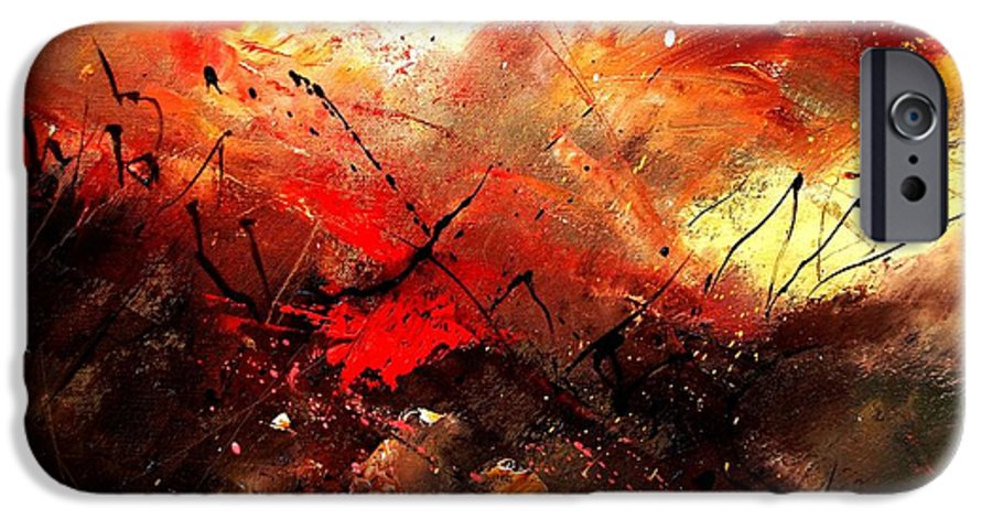 Abstract IPhone 6 Case featuring the painting Abstract 100202 by Pol Ledent