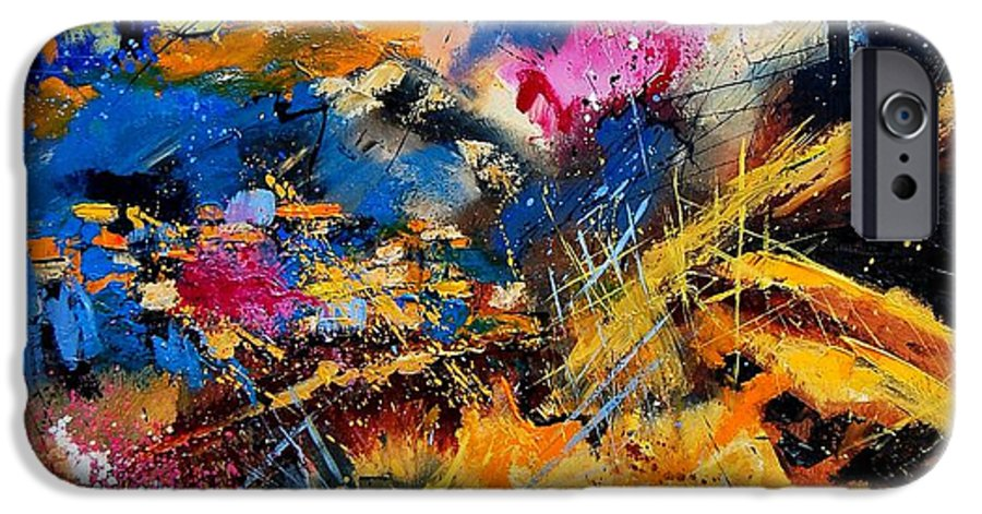 Abstract IPhone 6 Case featuring the painting Abstract 7808082 by Pol Ledent