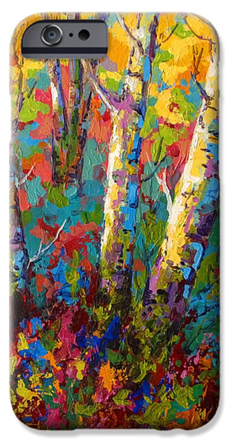 Trees IPhone 6 Case featuring the painting Abstract Autumn II by Marion Rose