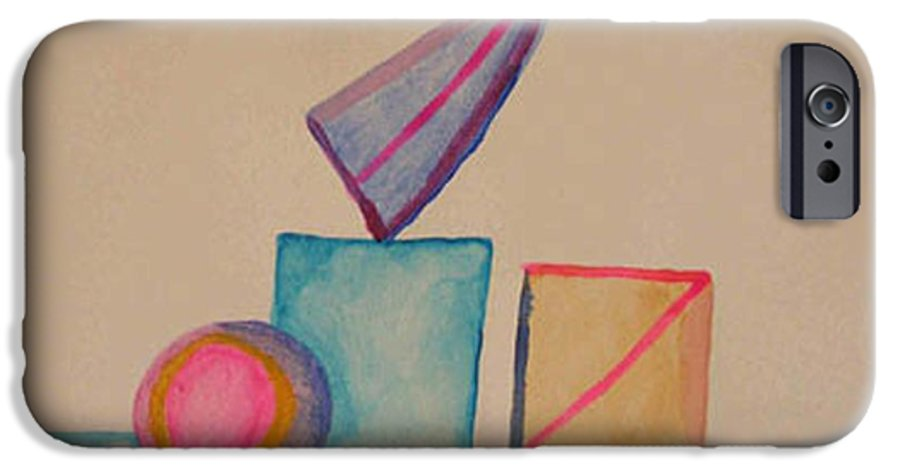 Abstract IPhone 6 Case featuring the painting Abstract Geometry by Natalee Parochka