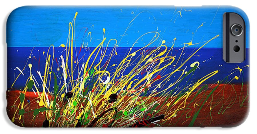 Ibiza IPhone 6 Case featuring the painting Abstract Ibiza by Mario Zampedroni