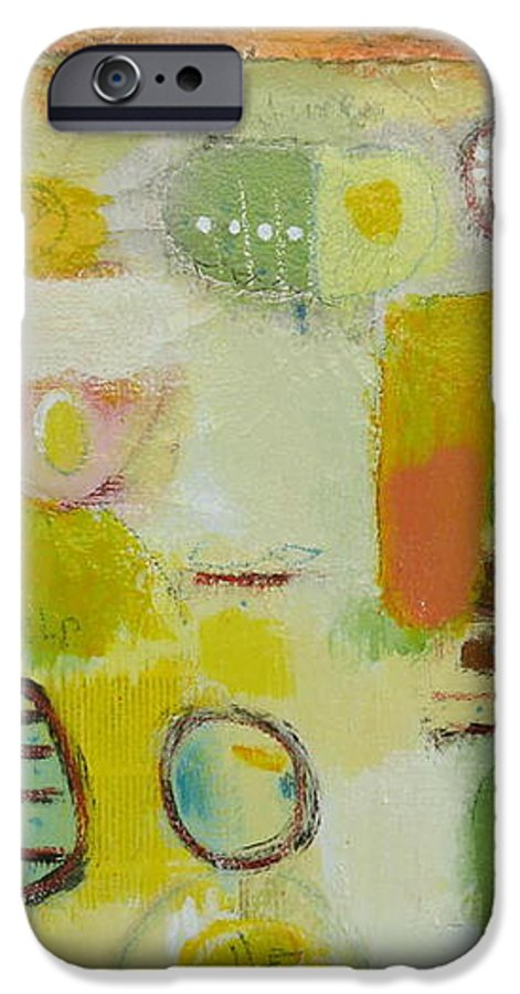 IPhone 6 Case featuring the painting Abstract Life 2 by Habib Ayat
