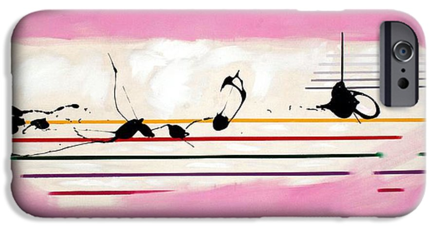 Abstract IPhone 6 Case featuring the painting Abstract... by Mario Zampedroni