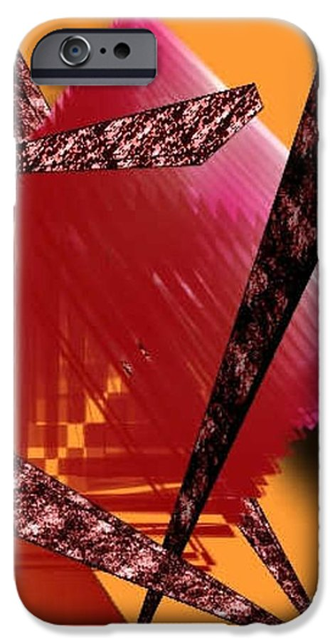 Abstracts IPhone 6 Case featuring the digital art Abstract-n-gold by Brenda L Spencer