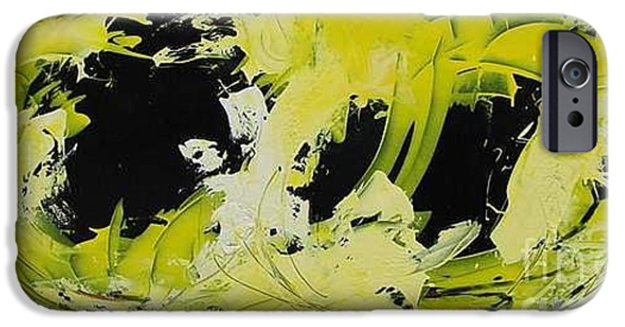 Abstract IPhone 6 Case featuring the painting Abstract Nature by Mario Zampedroni