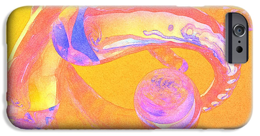 Glass IPhone 6 Case featuring the painting Abstract Number 2 by Peter J Sucy