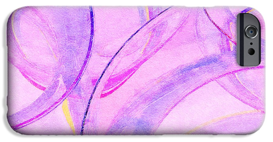 Glass IPhone 6 Case featuring the painting Abstract Number 20 by Peter J Sucy