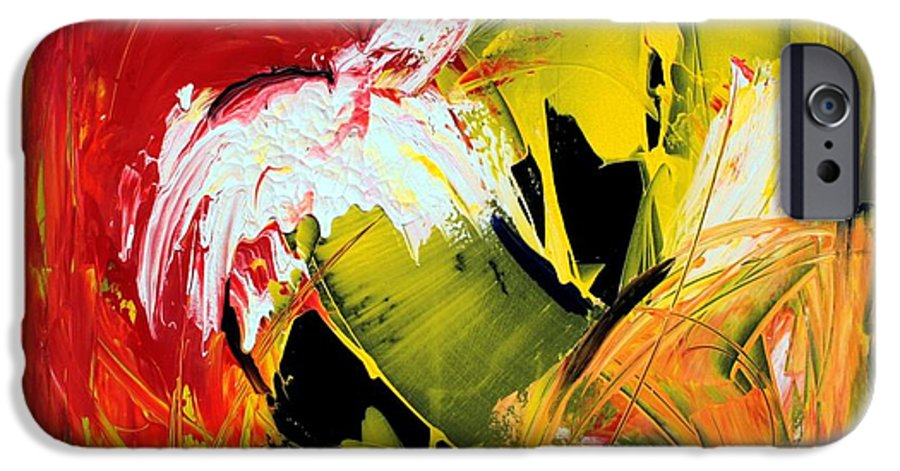 Abstarct IPhone 6 Case featuring the painting Abstract Painting by Mario Zampedroni