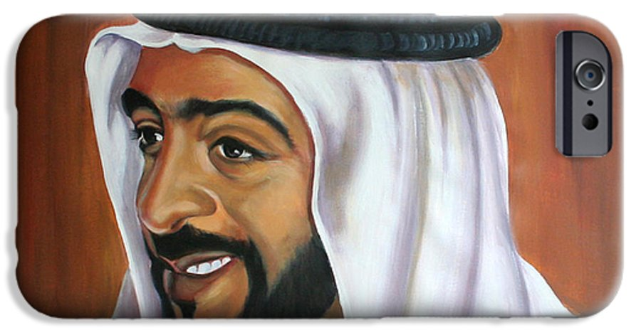 Portrait IPhone 6 Case featuring the painting Abu Dhabi by Fiona Jack