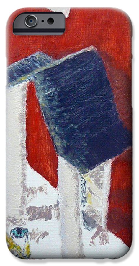Social Realiism IPhone 6 Case featuring the painting Accessories by R B