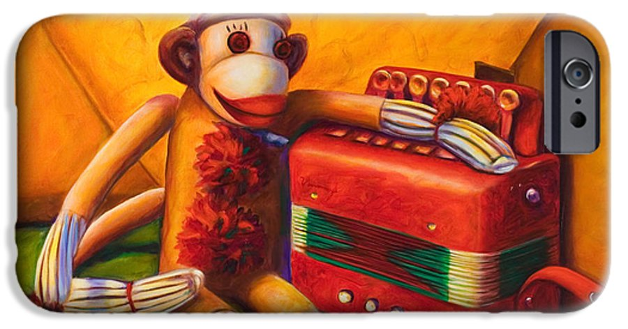 Children IPhone 6 Case featuring the painting Accordion by Shannon Grissom