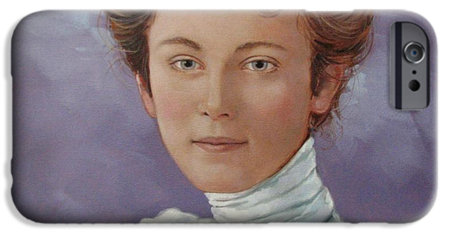 Posthumous Portrait IPhone 6 Case featuring the painting Ada Douglas by Jerrold Carton