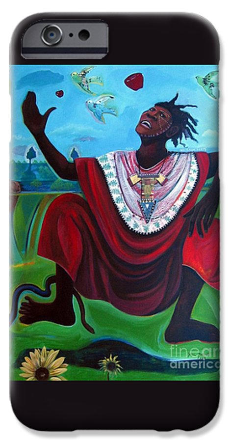 Adam IPhone 6 Case featuring the painting Adam Who Is Your Daddy by Joyce Owens