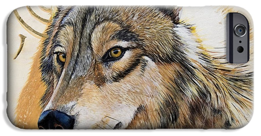 Acrylics IPhone 6 Case featuring the painting Adobe Gold by Sandi Baker