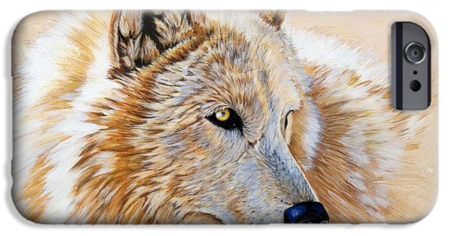 Acrylic IPhone 6 Case featuring the painting Adobe White by Sandi Baker