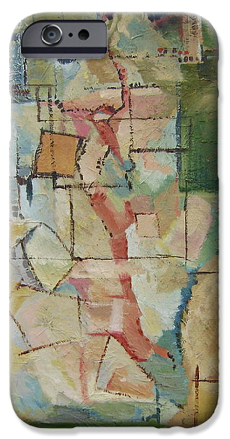 Abstract Art IPhone 6 Case featuring the painting Aerial by Ginger Concepcion