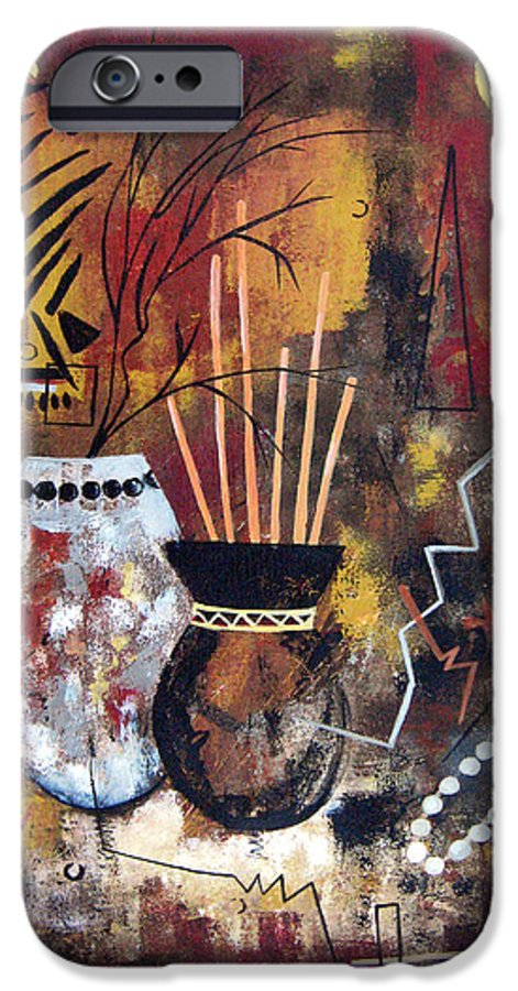 Abstract IPhone 6 Case featuring the painting African Perspective by Ruth Palmer