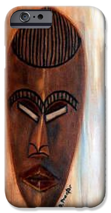 African IPhone 6 Case featuring the painting African Warrior by Donna Proctor
