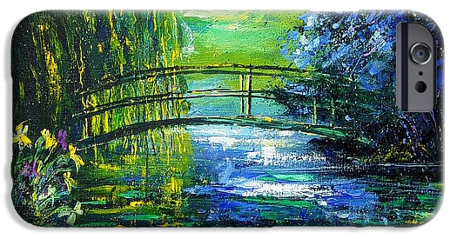 Pond IPhone 6 Case featuring the painting After Monet by Pol Ledent
