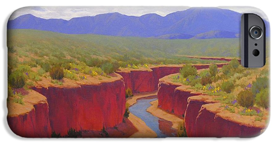 Cody Delong IPhone 6 Case featuring the painting After The Rain by Cody DeLong