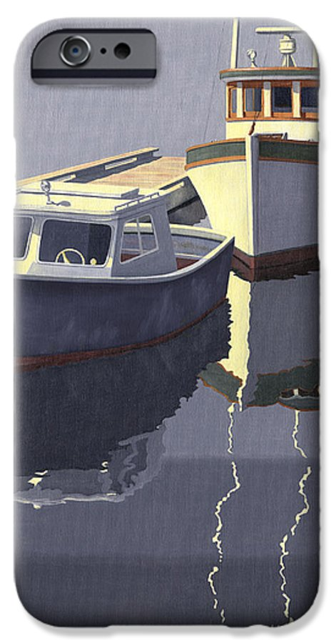 Boat IPhone 6 Case featuring the painting After The Rain by Gary Giacomelli