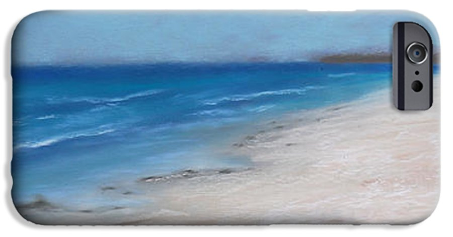 Landscape IPhone 6 Case featuring the pastel Afternoon On Honeymoon Island by Greg Neal