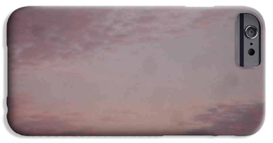 Skyscape IPhone 6 Case featuring the painting Afternoon Sky by Roger Cummiskey
