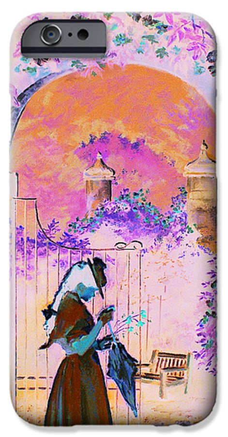 Rose IPhone 6 Case featuring the painting Afternoon Stroll by Jean Hildebrant