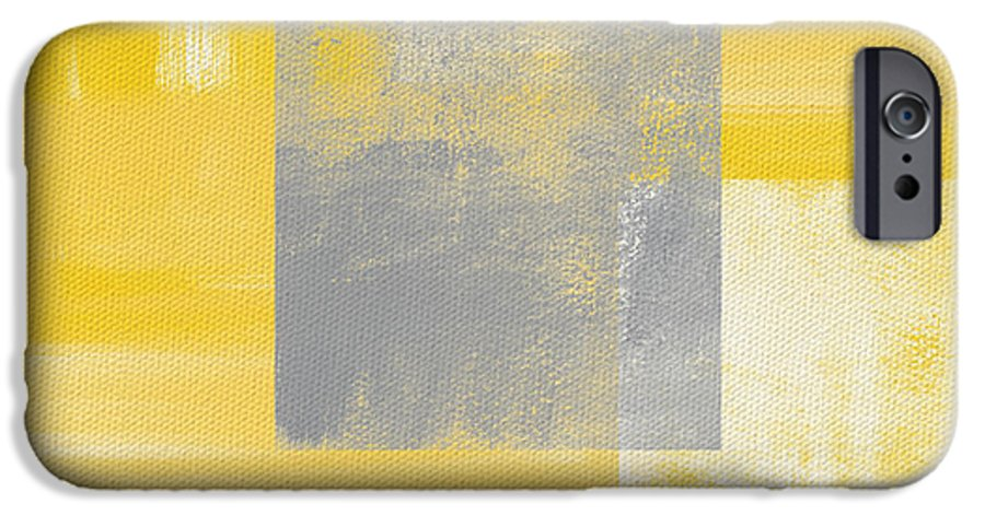 Yellow IPhone 6 Case featuring the painting Afternoon Sun And Shade by Linda Woods