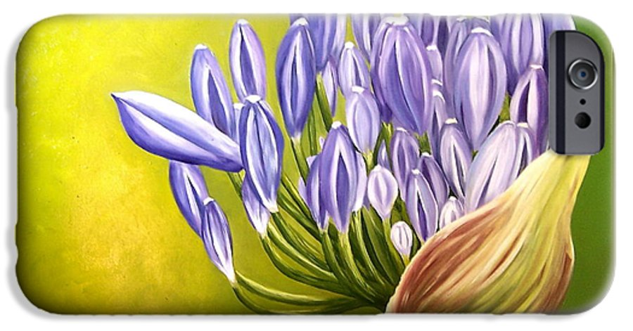 Flower IPhone 6 Case featuring the painting Agapanthos by Natalia Tejera