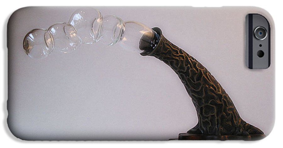 Bronze IPhone 6 Case featuring the sculpture Agaricia Bullio by Patricia Van Lubeck