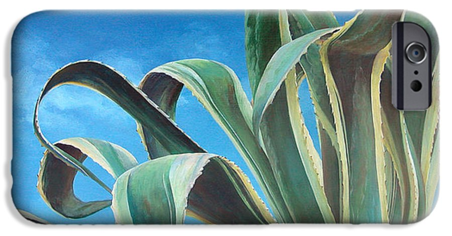 Floral Painting IPhone 6 Case featuring the painting Agave by Muriel Dolemieux
