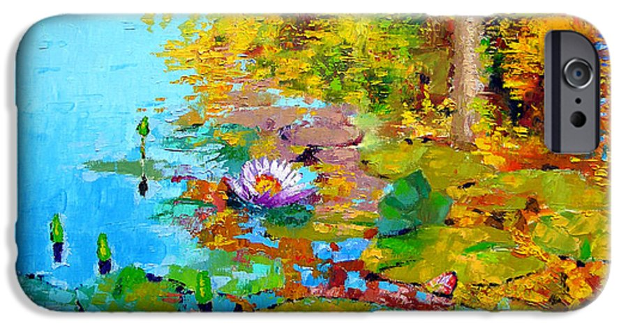 Fall IPhone 6 Case featuring the painting Aglow With Fall by John Lautermilch