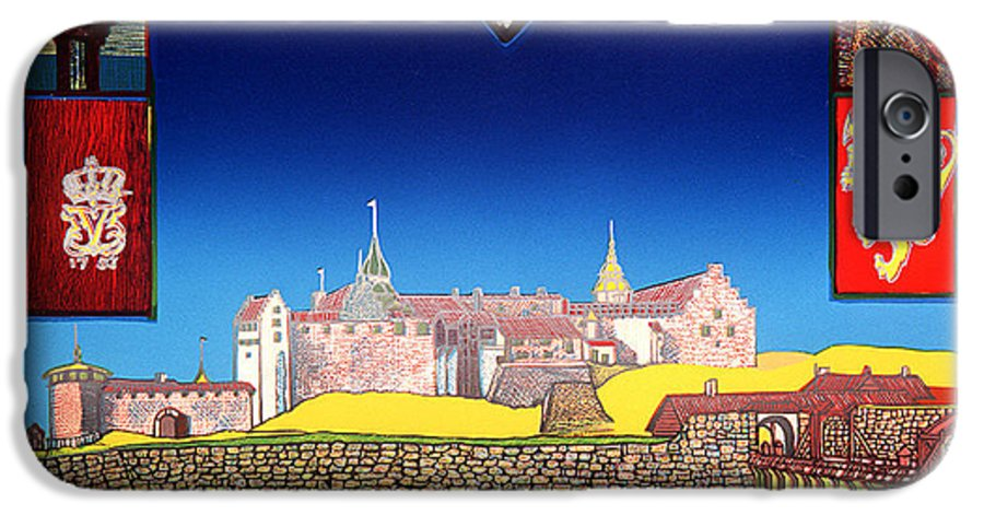 Historic IPhone 6 Case featuring the mixed media Akershus Festning -akershusfortress by Jarle Rosseland
