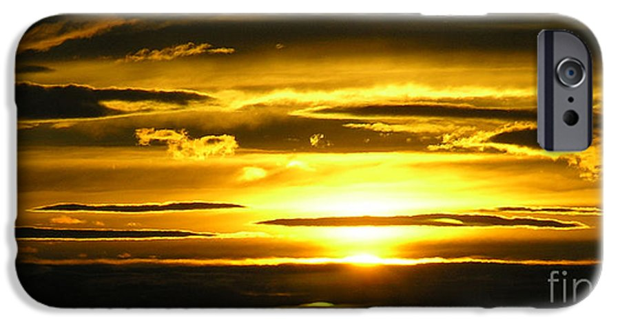 Sunset IPhone 6 Case featuring the photograph Alaskan Sunset by Louise Magno