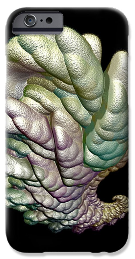 Fractal IPhone 6 Case featuring the digital art Alien Brain by Frederic Durville