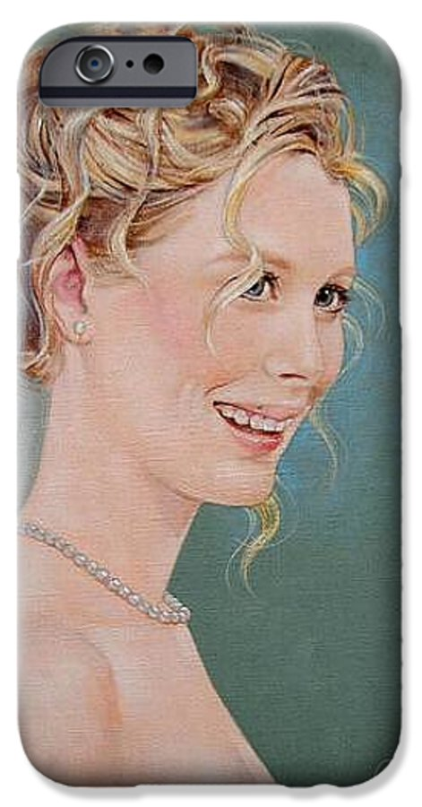 Wedding IPhone 6 Case featuring the painting Allison by Jerrold Carton