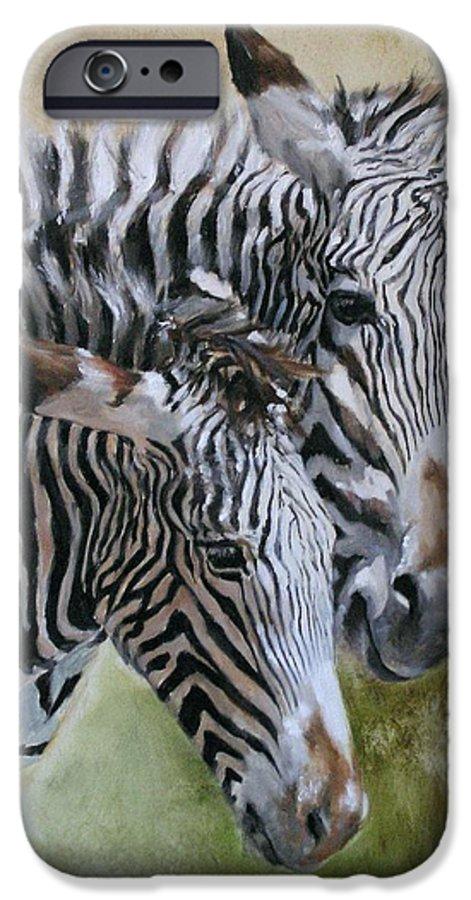 Wildlife Art IPhone 6 Case featuring the painting Almost Grown by Debra Jones